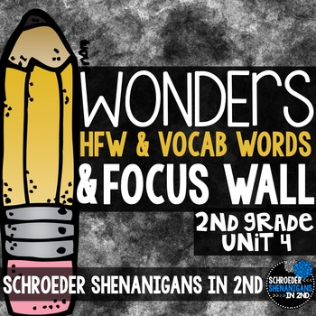 Reading Wonders Focus Wall & word cards Grade 2 Unit 4: Co