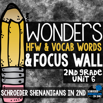 Reading Wonders Focus Wall & word cards Grade 2 Unit 6: Co
