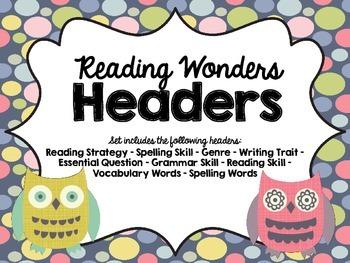 Reading Wonders Focus Wall Headings OWLS
