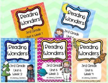 Reading Wonders Grade 3  (Unit 6 BUNDLE!)