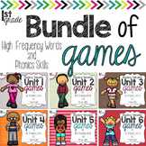 Grade 1 Bundle of Games for High Frequency Words and Phonics