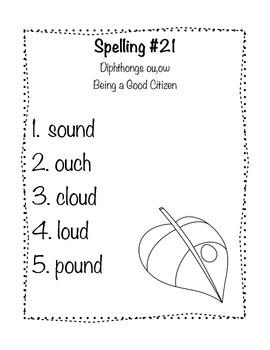 Reading Wonders Grade 2 Spelling List Unit: 5