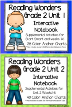 Reading Wonders Grade 2 Unit 1 and 2 Interactive Notebook/