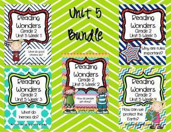 Reading Wonders Grade 2 Unit 5 Bundle (All 5 Weeks!)