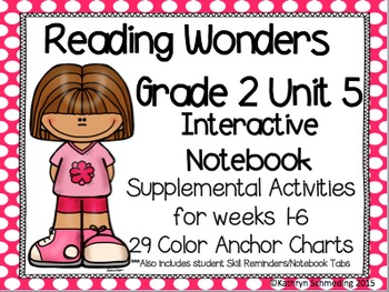 Reading Wonders Grade 2 Unit 5 Interactive Notebook/Anchor Charts
