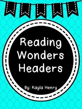 Reading Wonders Headers Freebie