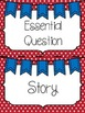 Reading Wonders Headers Red and Blue (polka dots and chevron)