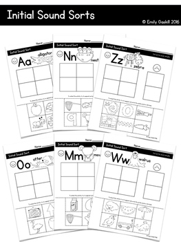 Reading Wonders Kindergarten Initial Sound Sorts Bundle (a-z)