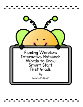 Reading Wonders Interactive Notebook 1st grade_Words to Kn