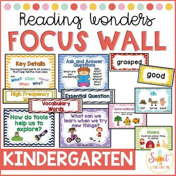 Reading Wonders Kindergarten Focus Wall BUNDLE