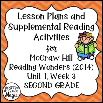 Reading Wonders Lesson Plans and Extra Activities Unit 1 W