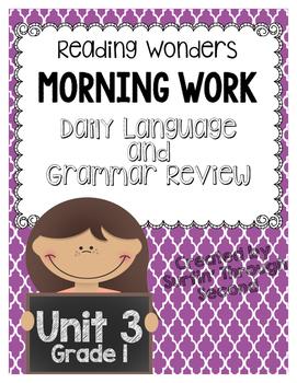 Reading Wonders Morning Work Unit 3 Grade 1
