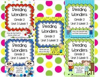 Reading Wonders Grade 2 Unit 3 Bundle (All 5 Weeks!)