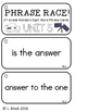 Reading Wonders - {Second Grade} - Unit 5 Phrase Race! Sig