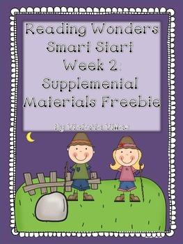 Reading Wonders Smart Start Week 2 Supplement Freebie