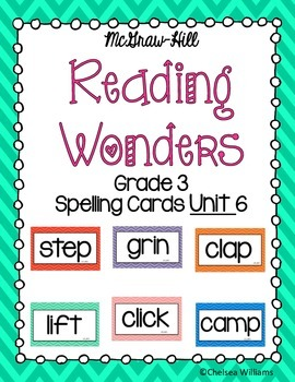 Reading Wonders Spelling Words Unit 6 3rd grade
