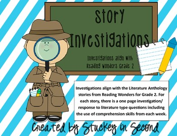 Reading Wonders Story Investigations Grade 2 Units 1 and 2