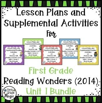 Reading Wonders UNIT 1 Bundle {First Grade}