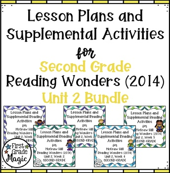 Second Grade Reading Wonders UNIT 2 Bundle