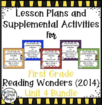 First Grade Reading Wonders UNIT 4 Bundle