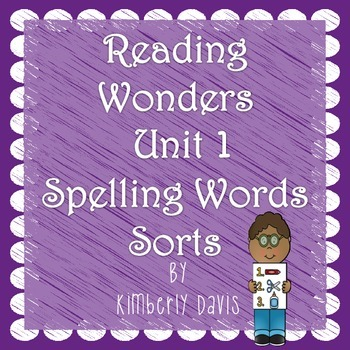 Reading Wonders Word Family Word Sorts