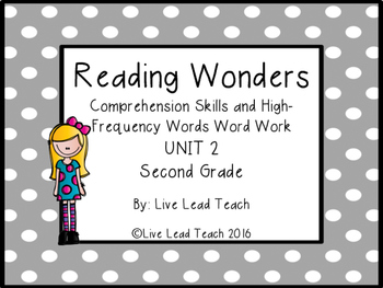 Reading Wonders Unit 2 High-Frequency Words Word Work and