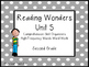 Reading Wonders Unit 5 High-Frequency Words Word Work and