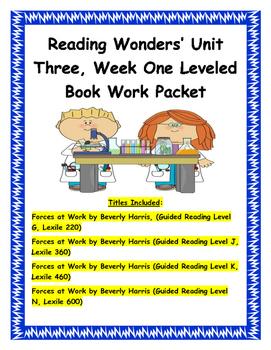 Reading Wonders' Unit Three, Week One Leveled Book Work Packet