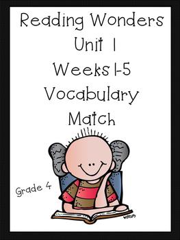 Reading Wonders Vocabulary Match Grade 4