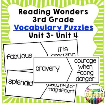 Reading Wonders Vocabulary Puzzles Units3 - Units 4