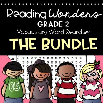 Reading Wonders Vocabulary Word Search 2nd Grade Series Bundle