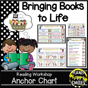 "Reading Workshop Anchor Chart - ""Bringing Books to Life"" f"