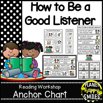 "Reading Workshop Anchor Chart - ""How to be a Good Listener"""