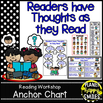 """Reading Workshop Anchor Chart - """"Readers have Thoughts as"""