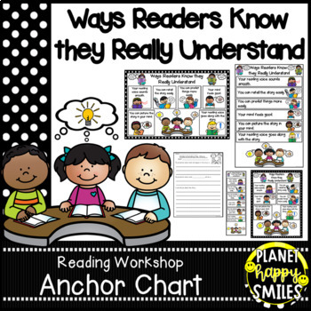 """Reading Workshop Anchor Chart - """"Ways Readers Know They Re"""