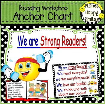 """Reading Workshop Anchor Chart - """"We are Strong Readers"""" +"""