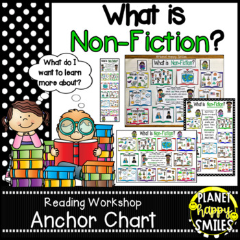 "Reading Workshop Anchor Chart - ""What is Non-Fiction?"""