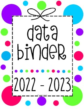 Reading Workshop Data Binder Sheets