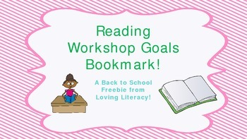 Reading Workshop Goal Bookmark
