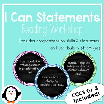 Reading Workshop - I Can Statements (CCSS)