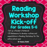 Reading Workshop Kick-off for Grades 5-6