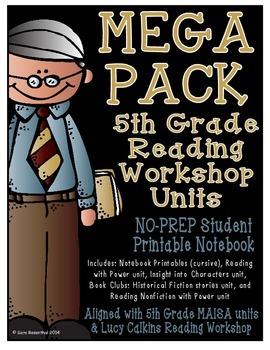 Reading Workshop - Mega Pack Units (5th Grade) ZIP file version