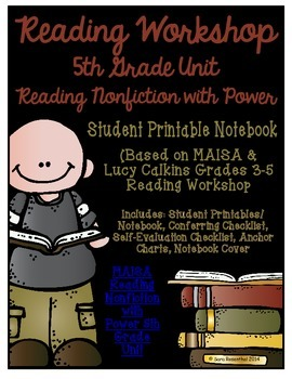 Reading Workshop - Nonfiction Unit (5th Grade No-Prep Stud