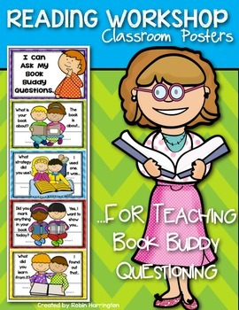 {Book Buddy Questions} Reading Workshop Posters Kindergart