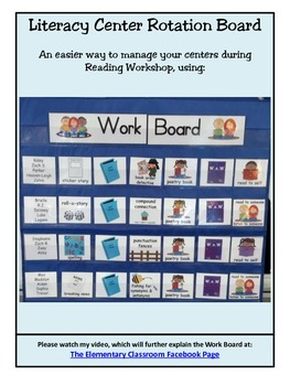 Manage Reading Workshop using a Work Board: A more effecti