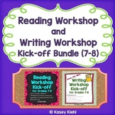 Reading Workshop and Writing Workshop Kick-off Bundle for