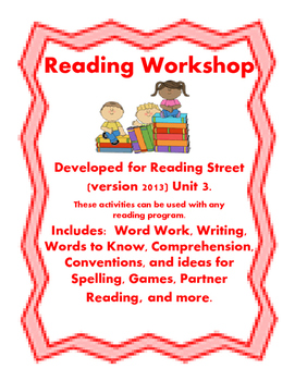 Reading Street Workshop 2nd Grade Unit 3