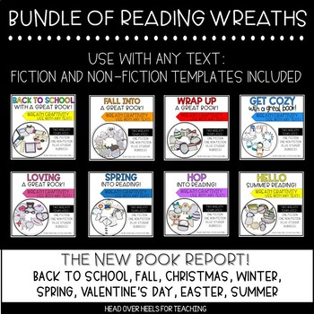 Reading Wreath Craftivities Bundle {Use with any fiction o