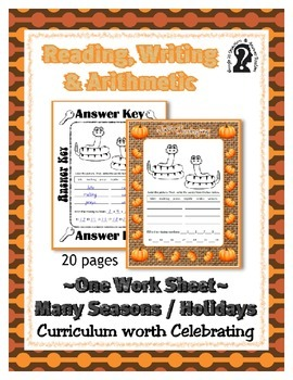 Reading, Writing & Arithmetic ~ Snakes ~ One Work Sheet ~