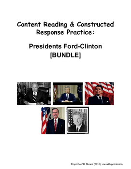 Reading & Writing For Content: Ford Through Clinton [BUNDLE]